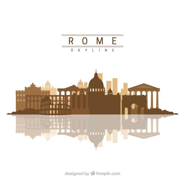 Skyline De Rome Vecteur gratuit