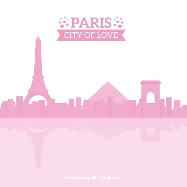 Skyline Rose De Paris Vecteur gratuit