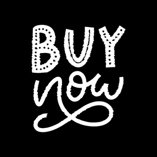 Slogan Achetez Maintenant Une Lettre Pour Le Web Vecteur Premium