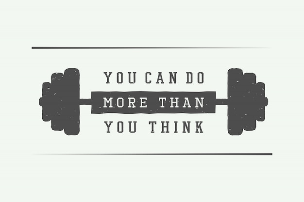 Slogan avec motivation Vecteur Premium