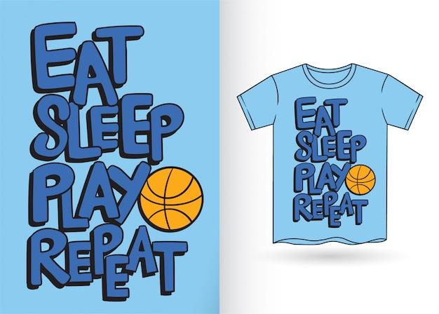 Slogan de typographie pour t-shirt Vecteur Premium