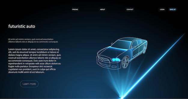 Smart Auto Ai Hud. Illustration Des Modes De Fonctionnement De La Voiture Sans Conducteur. Vecteur Premium