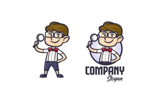 Smart Geek Cartoon Vecteur Premium