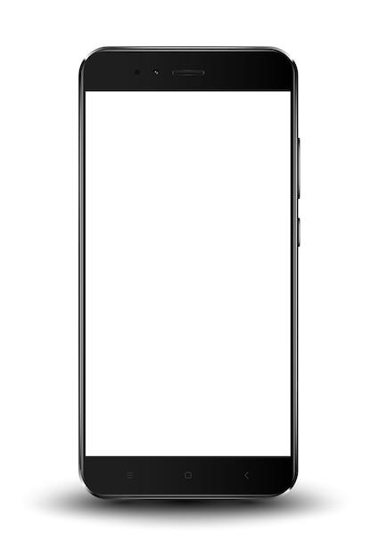 Smartphone maquette facilement placer l'image dans l'écran. Vecteur Premium
