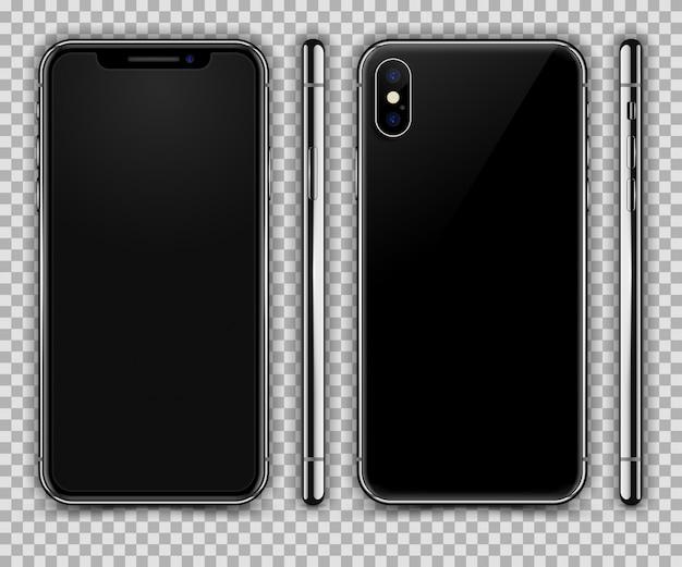 smartphone r aliste similaire l 39 iphone x vue avant arri re et lat rale t l charger des. Black Bedroom Furniture Sets. Home Design Ideas