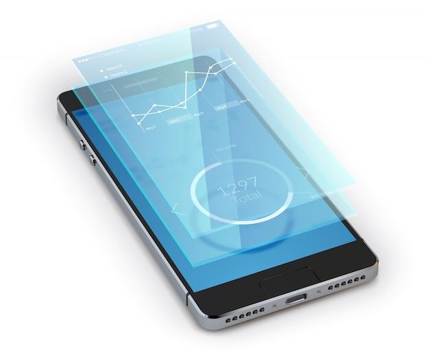 Smartphone réaliste Vecteur gratuit