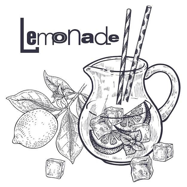 Smoothies. régime alimentaire sain. fruit pour la préparation de limonade Vecteur Premium