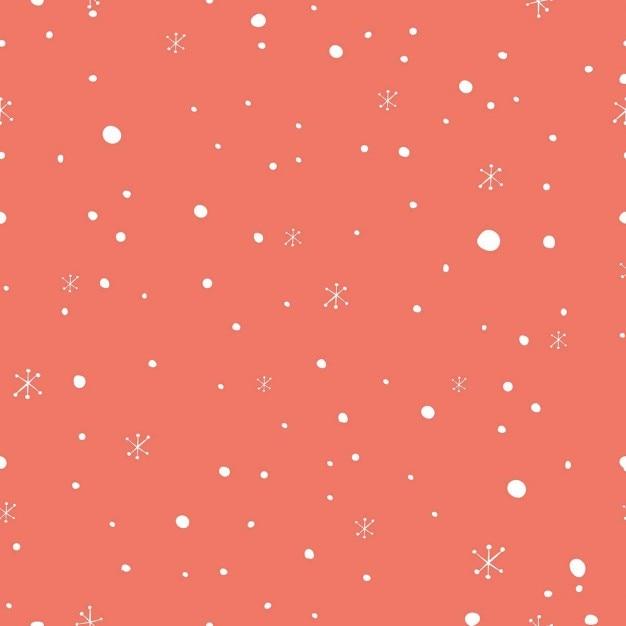 Snowing Design Pattern Vecteur gratuit