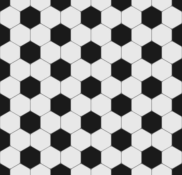 Soccer Ou Football Ball Sport Texture Transparente. Motif Noir Et Blanc Avec Hexagone Pour Flyer, Affiche, Site Web. Contexte Vecteur Premium