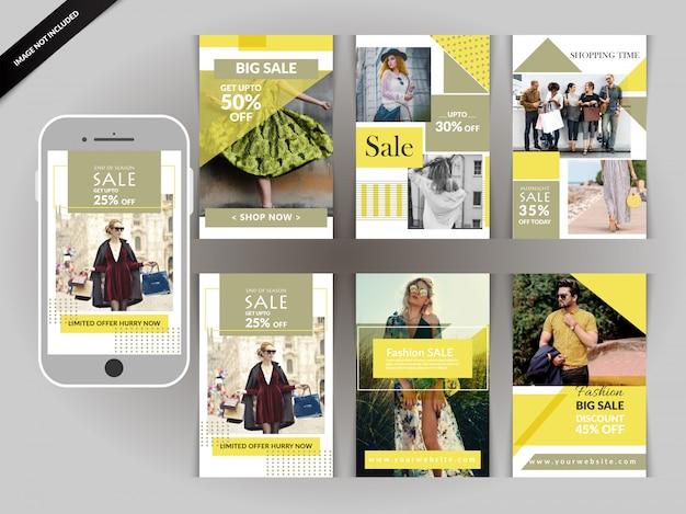 Social media shopping pack pour instagram Vecteur Premium