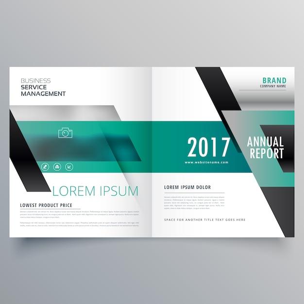 Société de conception bifold brochure pour votre entreprise Vecteur gratuit
