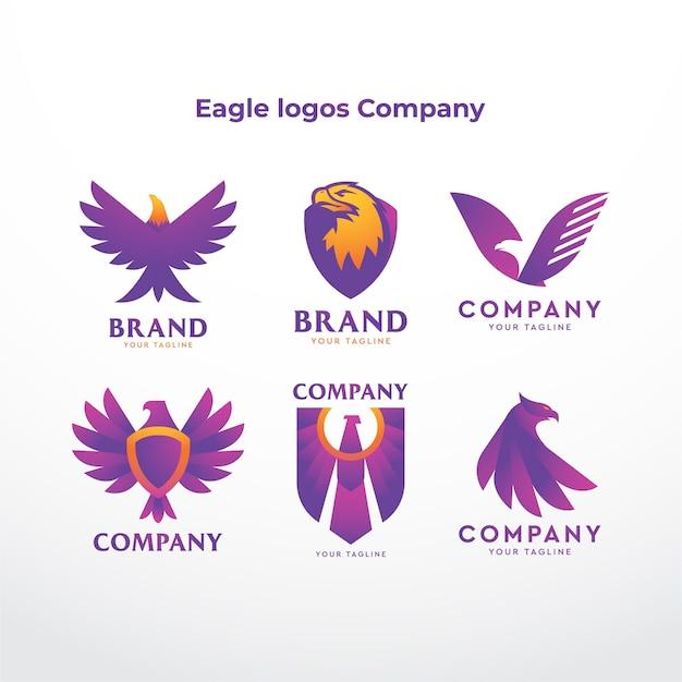 Société De Logos Aigle Vecteur Premium