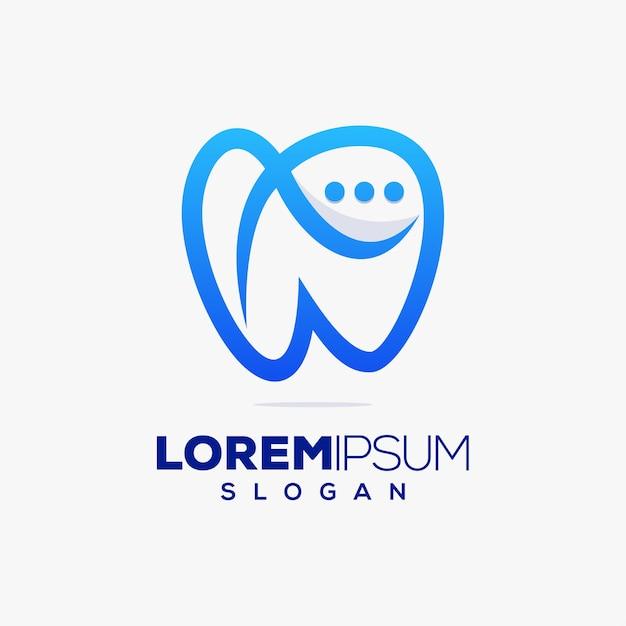 Soins Dentaires, Consultation De Chat, Création De Logo Coloré Vecteur Premium
