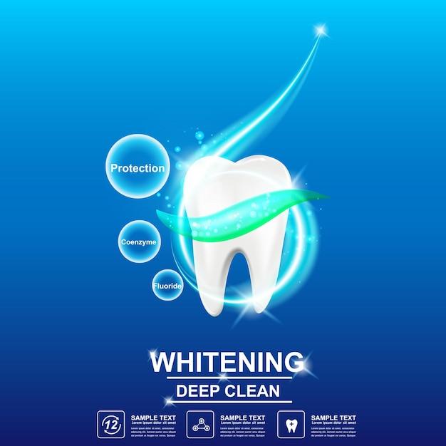 Soins Dentaires Et Dents Sur Le Concept De Fond. Vecteur Premium