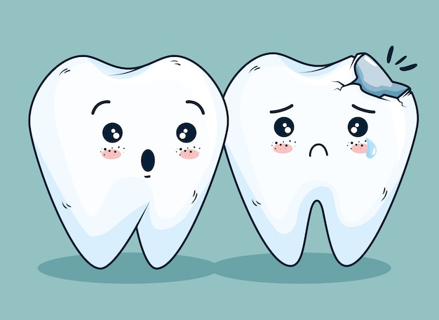 Soins D'hygiène Des Dents Avec Traitement Médical Vecteur gratuit