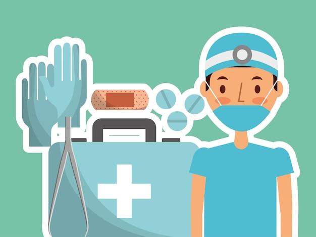 Soins médicaux Vecteur Premium
