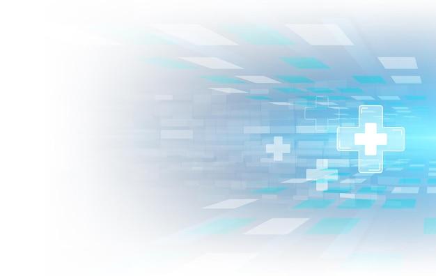 Soins De Santé Et Science Icône Modèle Fond De Concept Innovation Médicale Vecteur Premium