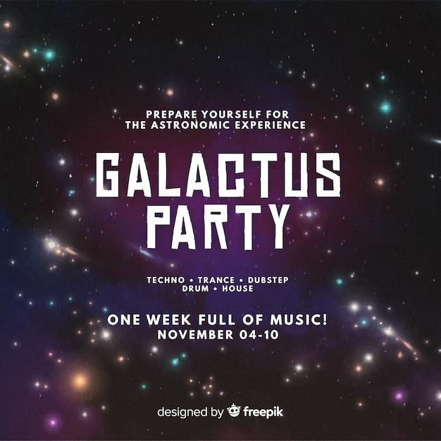 Soirée galactus Vecteur gratuit