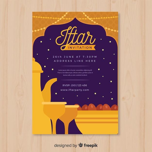 Soirée iftar Vecteur gratuit