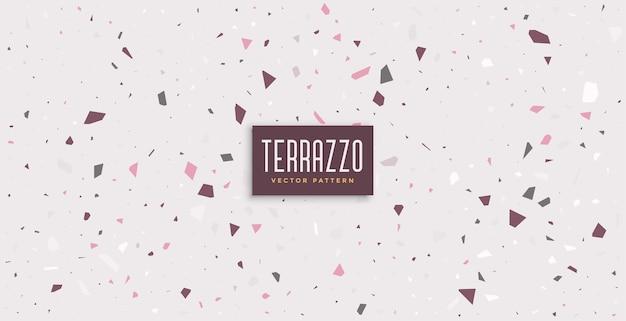 Sol En Terrazzo Design De Fond De Texture En Pierre Polie Vecteur gratuit