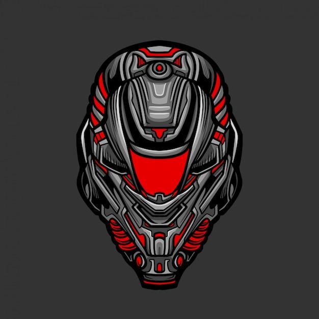 Soldat mask 1 illustration vectorielle Vecteur Premium
