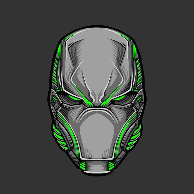 Soldat mask 5 illustration vectorielle Vecteur Premium