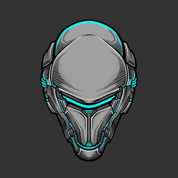Soldat mask 7 illustration vectorielle Vecteur Premium
