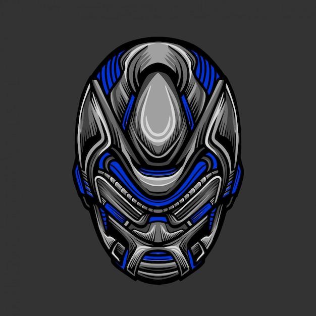 Soldat mask 8 illustration vectorielle Vecteur Premium