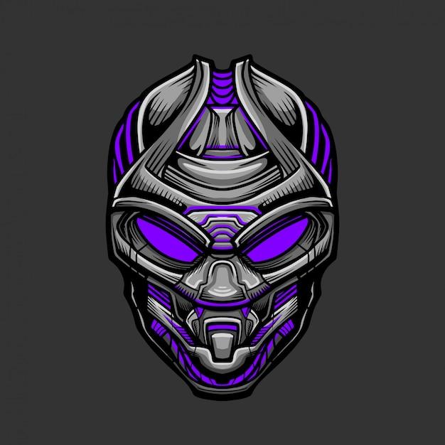 Soldat mask 9 illustration vectorielle Vecteur Premium