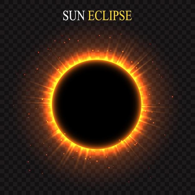 Soleil levant sur la planète. fond d'espace vectoriel Vecteur Premium