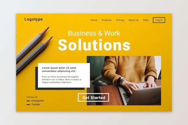 Solutions de travail et de pages de destination Vecteur gratuit
