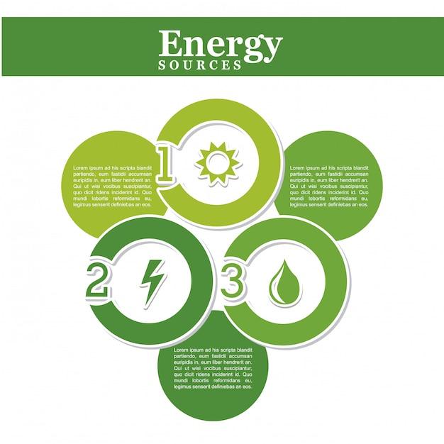 Source d'énergie au cours de l'illustration vectorielle fond blanc Vecteur Premium