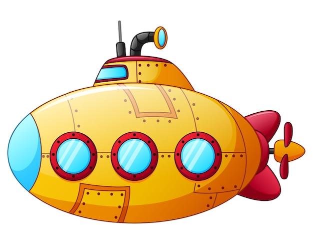Sous-marin jaune de dessin animé | Télécharger des ...