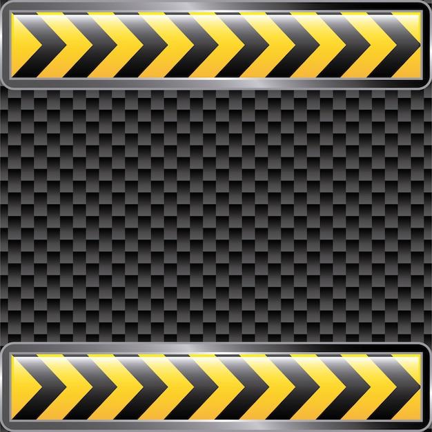 Sous rubans de construction sur l'illustration vectorielle fond noir Vecteur Premium
