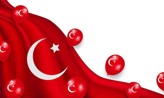 La Souveraineté Nationale Et La Journée Des Enfants. Conception De Ballons Rouges Vecteur Premium
