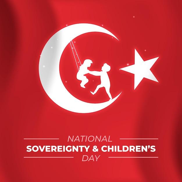 La Souveraineté Nationale Et La Journée Des Enfants Vecteur gratuit