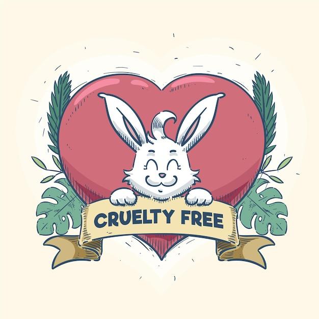Soyez Amical Avec Le Concept Végétalien Des Animaux Vecteur gratuit