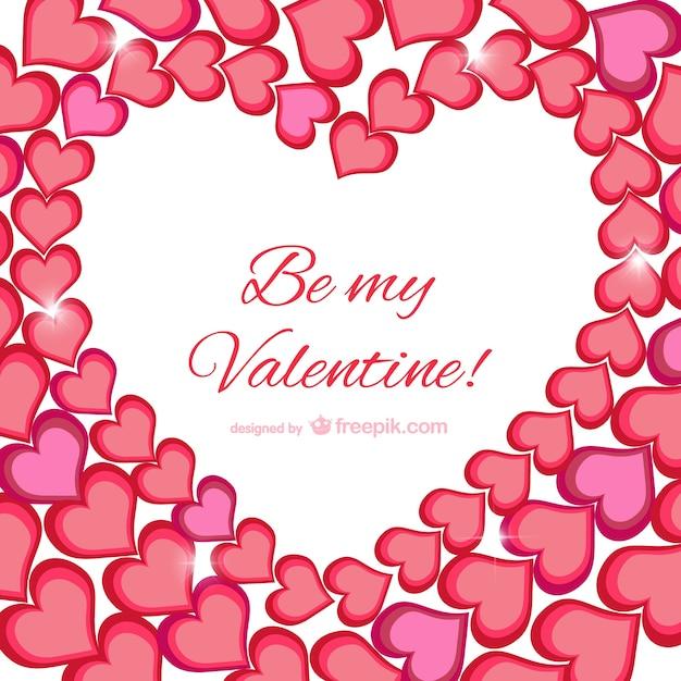 Soyez Ma Carte De Voeux Saint-valentin | Vecteur Gratuite