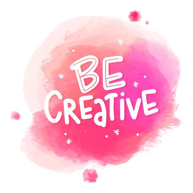 Soyez un message créatif sur les taches d'aquarelle Vecteur gratuit