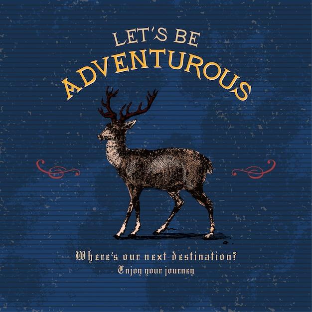 Soyons aventureux logo design vectoriel Vecteur gratuit