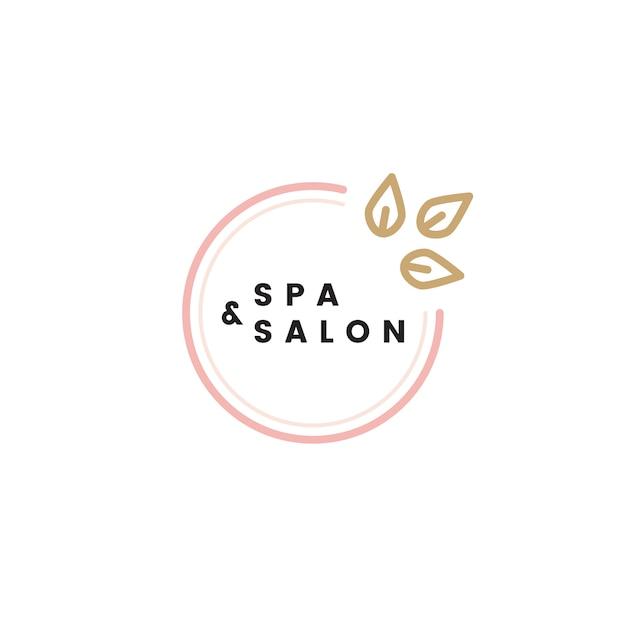Spa et salon logo vectoriel Vecteur gratuit