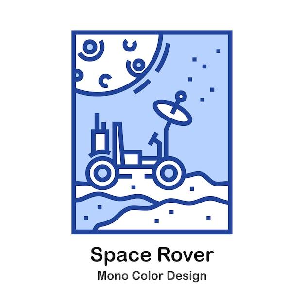 Space rover Vecteur Premium