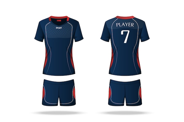 Spécification maillot volleyball Vecteur Premium