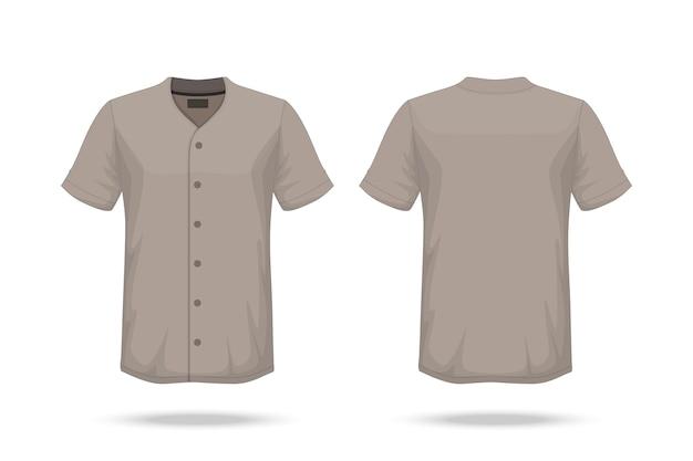Spécification t-shirt de baseball Vecteur Premium