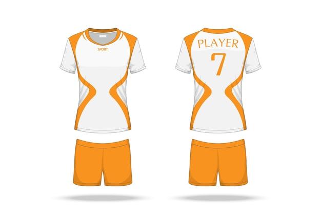 Spécification volleyball jersey Vecteur Premium