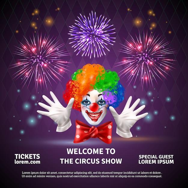 Spectacle De Cirque De Feux D'artifice Vecteur gratuit