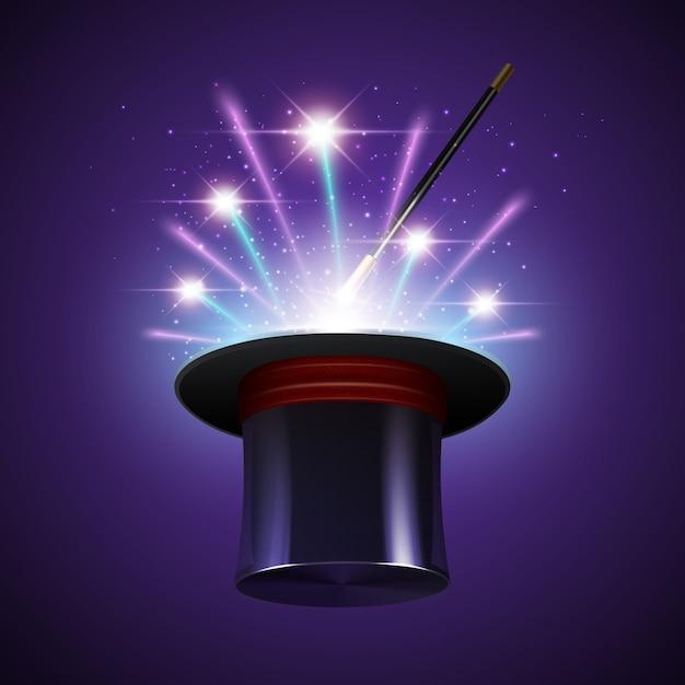 Spectacle de magie Vecteur gratuit