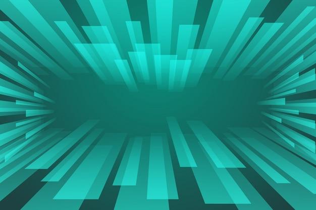 Spectre abstrait vert Vecteur Premium