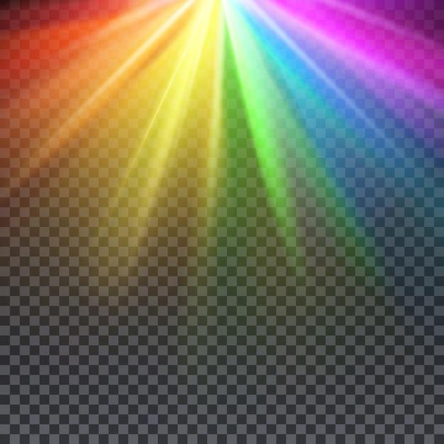 Spectre d'éblouissement arc-en-ciel avec illustration de couleurs gay pride. Vecteur Premium