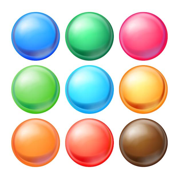 Sphères rondes ensemble. Vecteur Premium